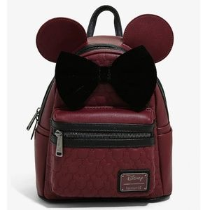 Loungefly Disney MinnieMouse Quilted Mini Backpack